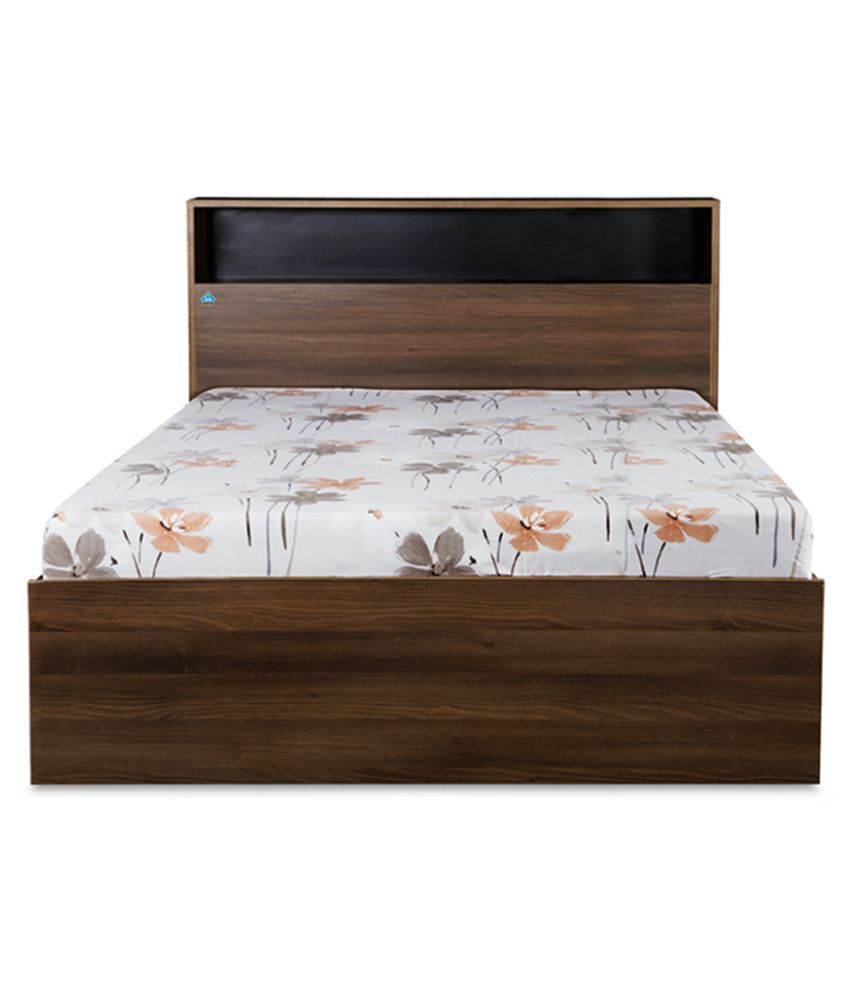 delite kom urban single bed without storage color acacia dark rh snapdeal com