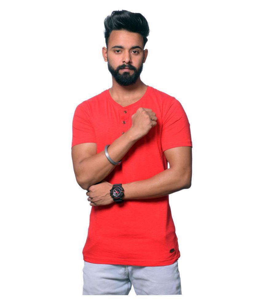 Hunkmart Red Round T-Shirt