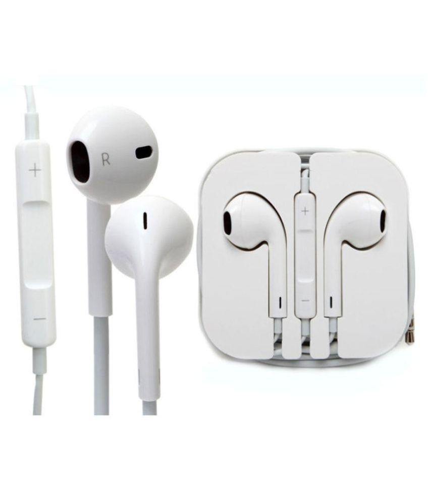 Earphones for Apple iphone 5s Ear Buds Wired Earphones With Mic