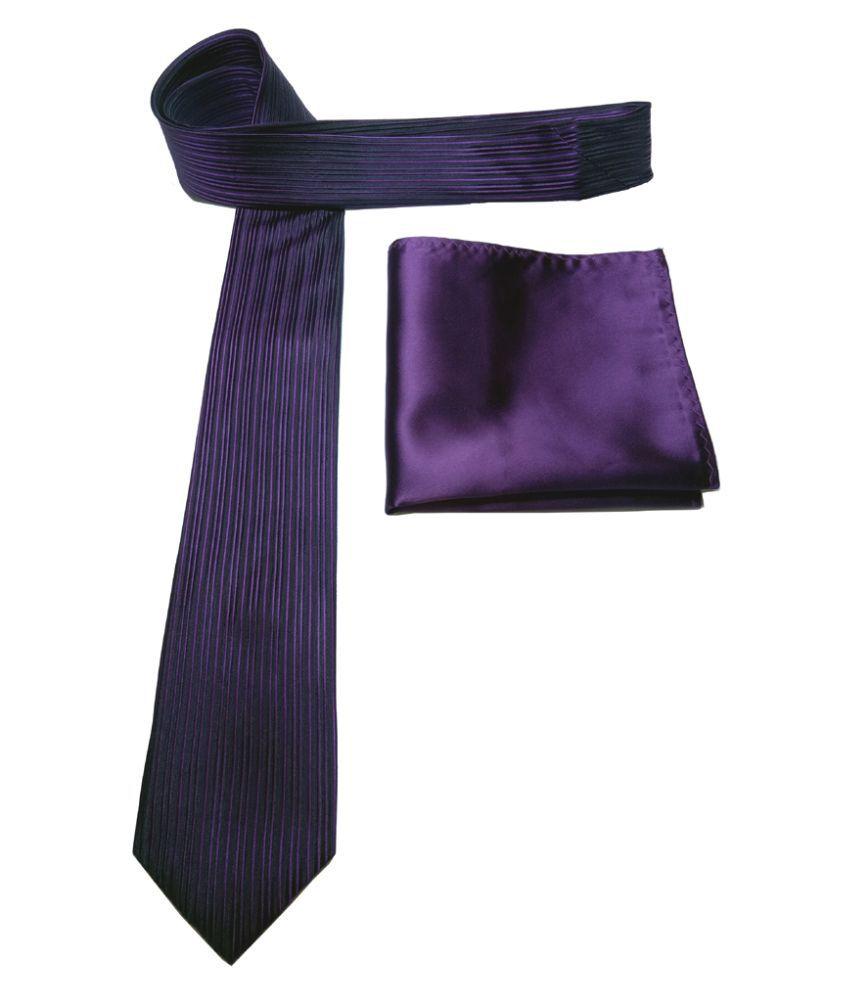 Mentiezi Purple Stripes Silk Necktie
