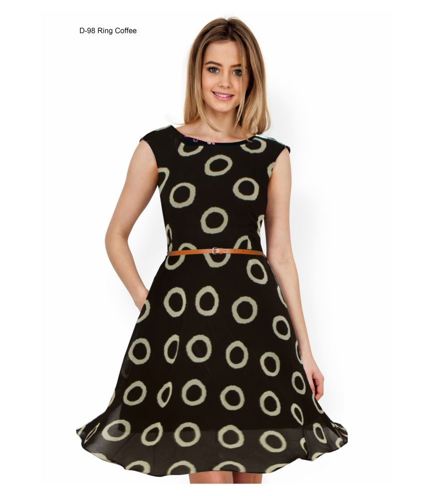 Womea Georgette Fit And Flare Dress