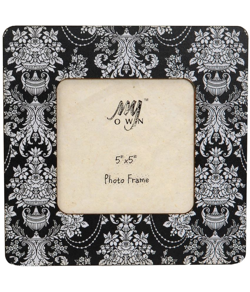 My Own MDF Table Top & Wall hanging Black Single Photo Frame - Pack of 1