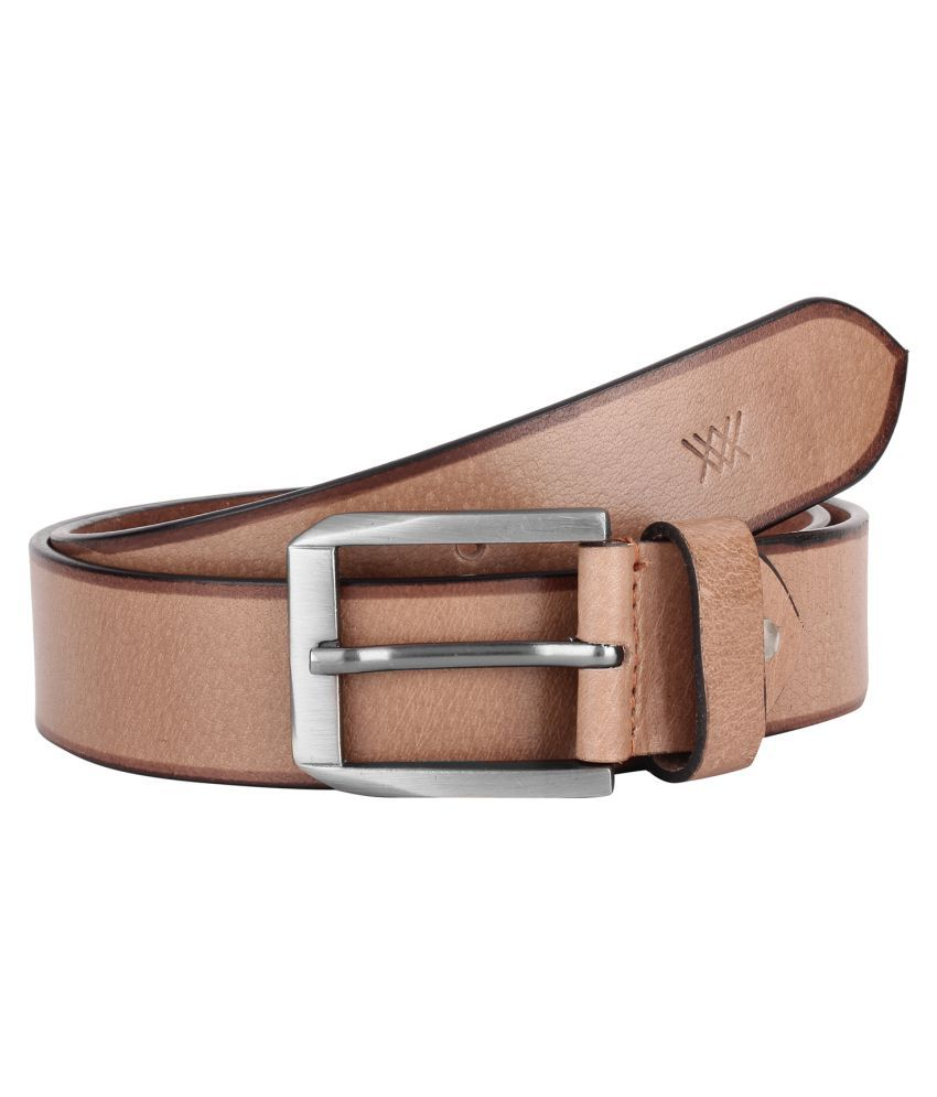 Aditi Wasan Beige Leather Casual Belts