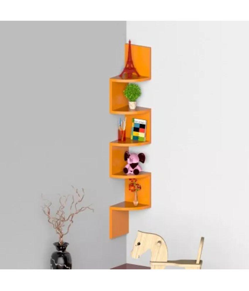 Onlineshoppee Floating Shelf/ Wall Shelf / Storage Shelf/ Decoration Shelf Orange - Pack of 1