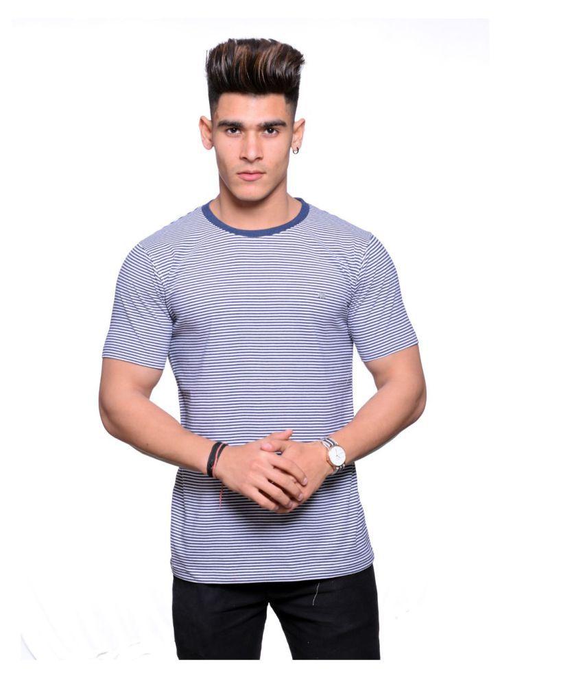 Hunkmart Blue Round T-Shirt