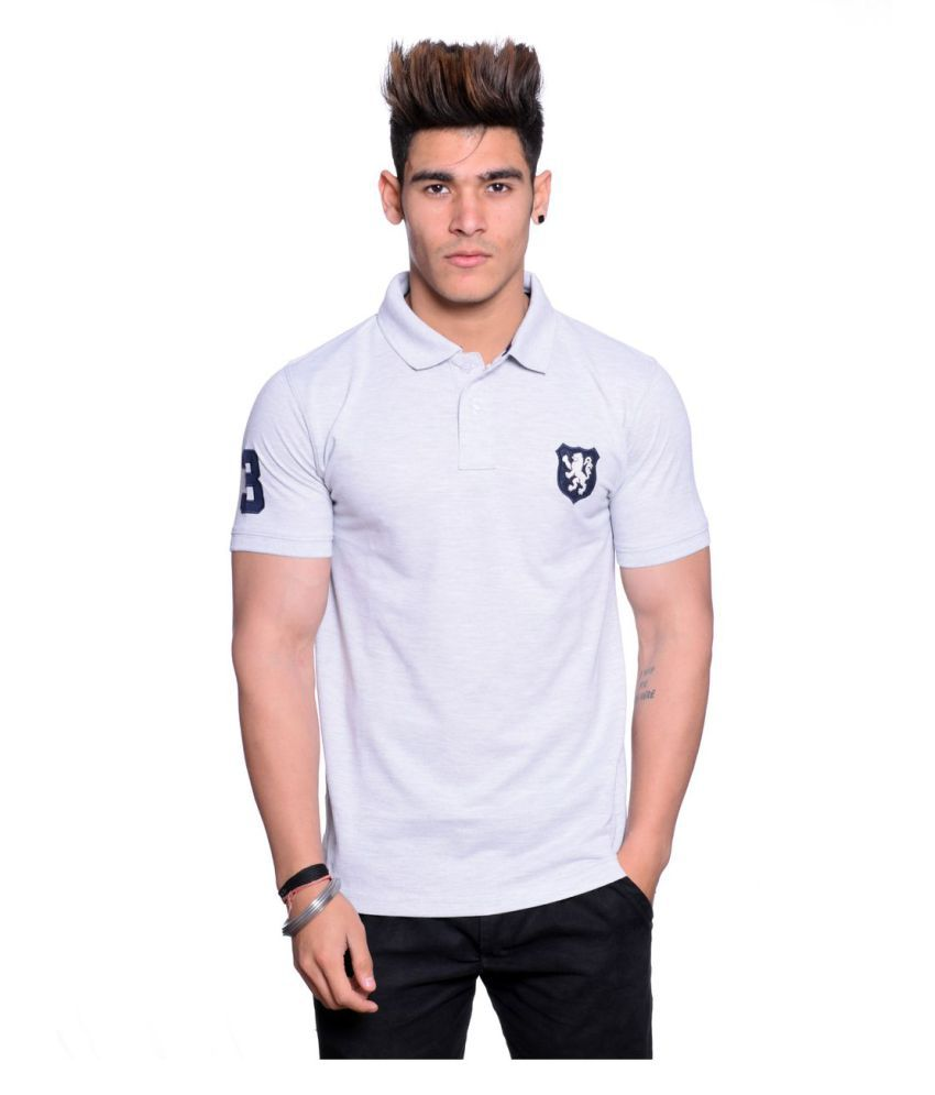 Hunkmart White High Neck T-Shirt