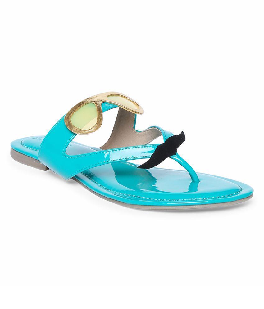 Siendo Desi Blue Platforms Heels