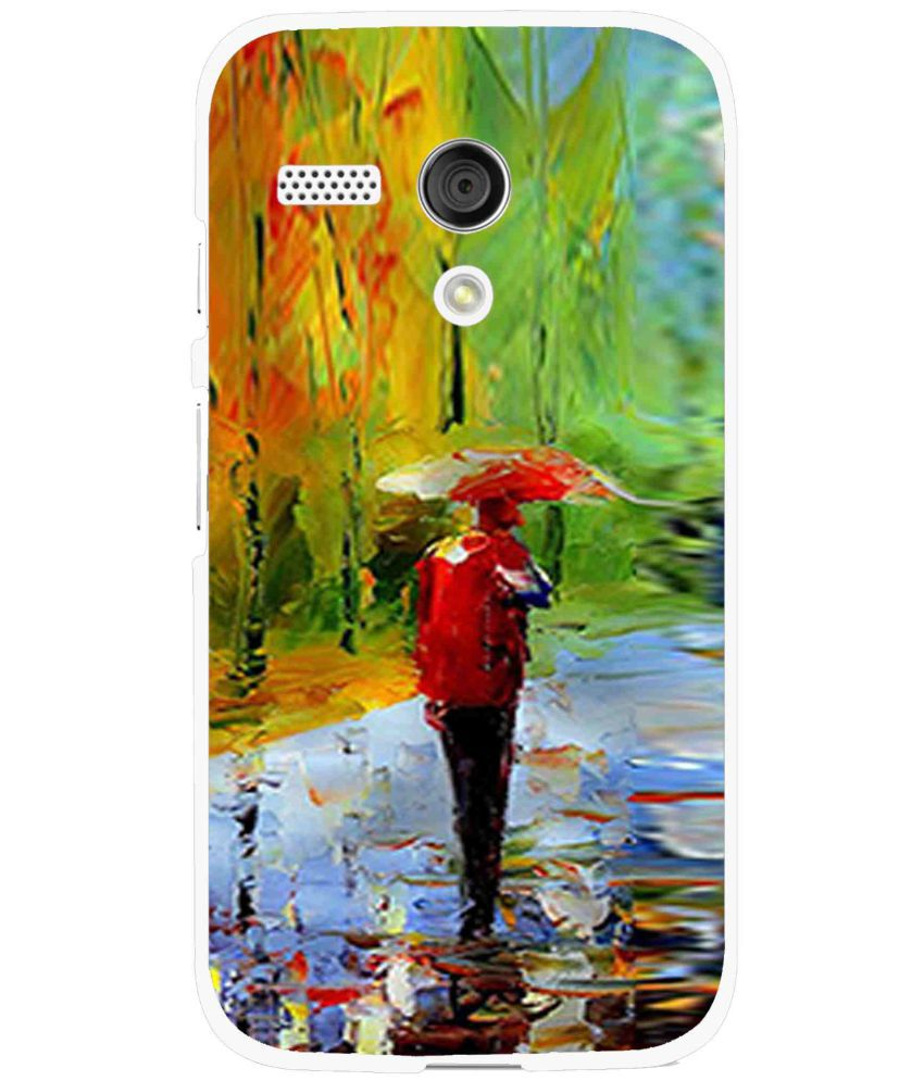 Moto G Printed Cover By Snooky