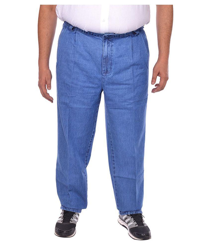 saba Blue Regular -Fit Flat Chinos