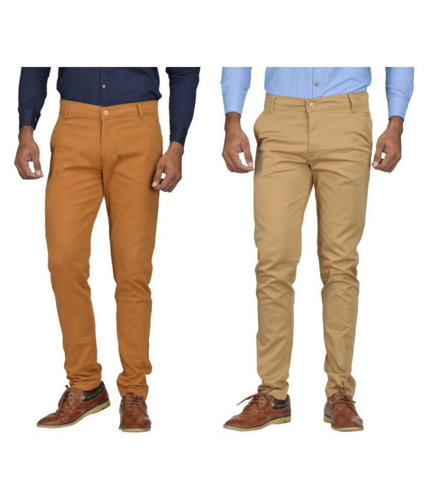 Kushsection Brown Regular -Fit Flat Trousers