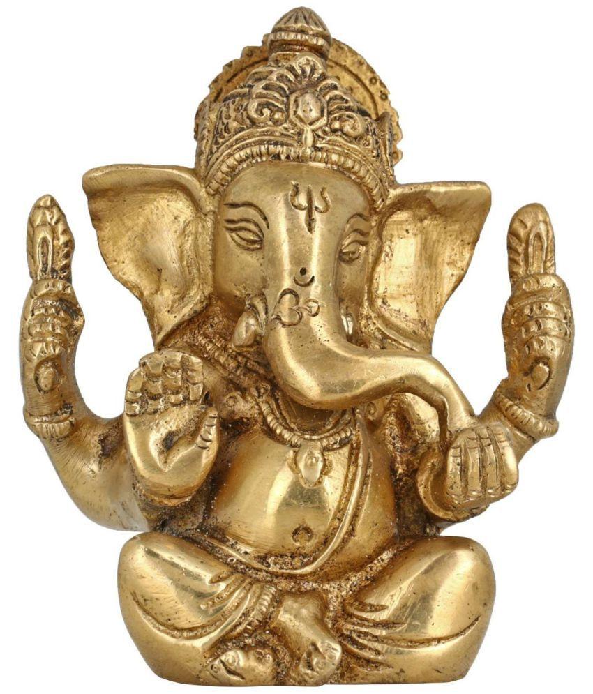 DakshCraft Ganesha Brass Idol