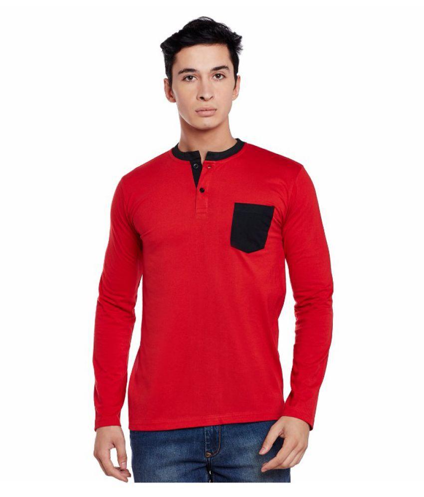 Sen Voler Red Henley T-Shirt