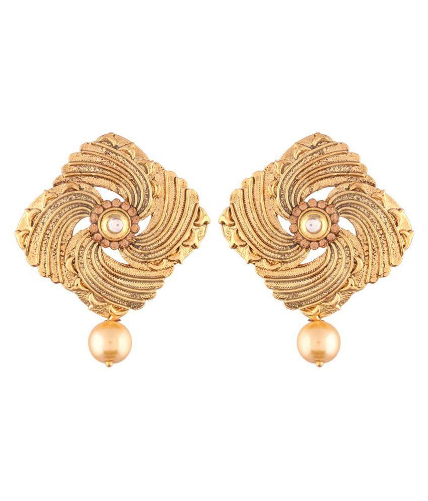 I Jewels High Gold Plated Designer Earrings for Women (E2407FL)