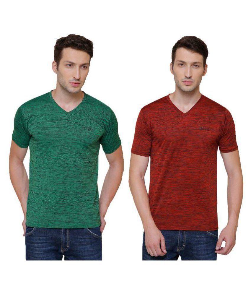 Pali Multi V-Neck T-Shirt Pack of 2