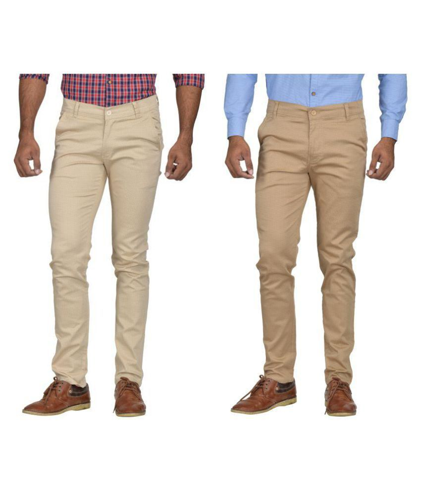 Kushsection Beige Slim -Fit Flat Chinos