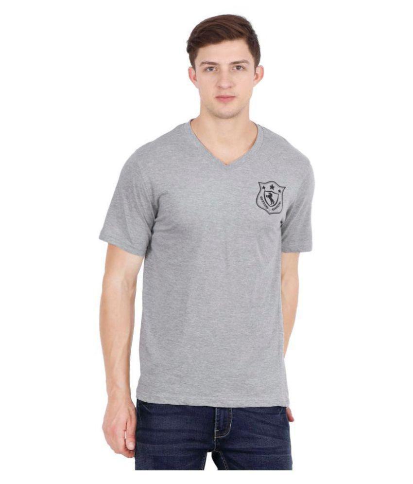 Urban Colors Grey V-Neck T-Shirt