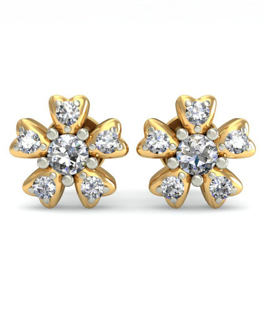 jewelsnext 18k BIS Hallmarked Yellow Gold Diamond Studs