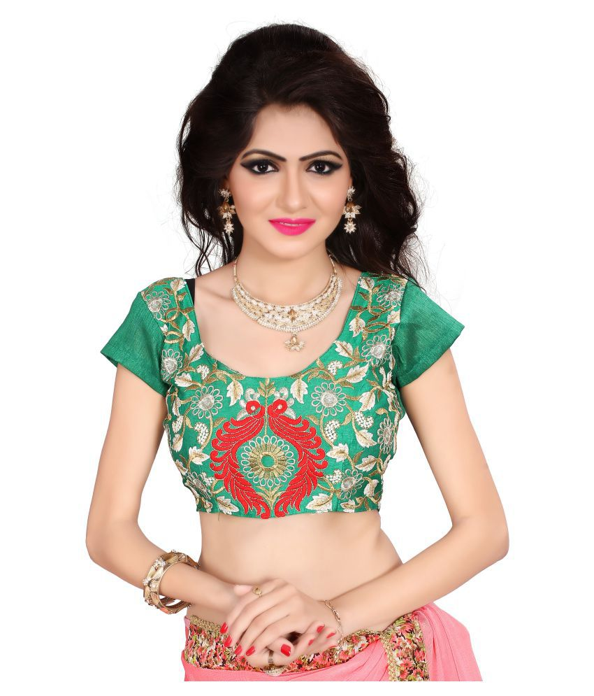 0826a9506a Bindani studio Green Cotton Semi Stitched Blouse - Buy Bindani studio Green  Cotton Semi Stitched Blouse Online at Low Price - Snapdeal.com