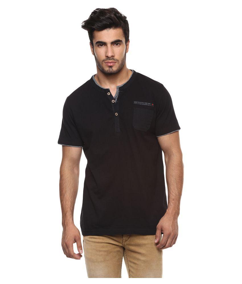 Mufti Black Henley T-Shirt