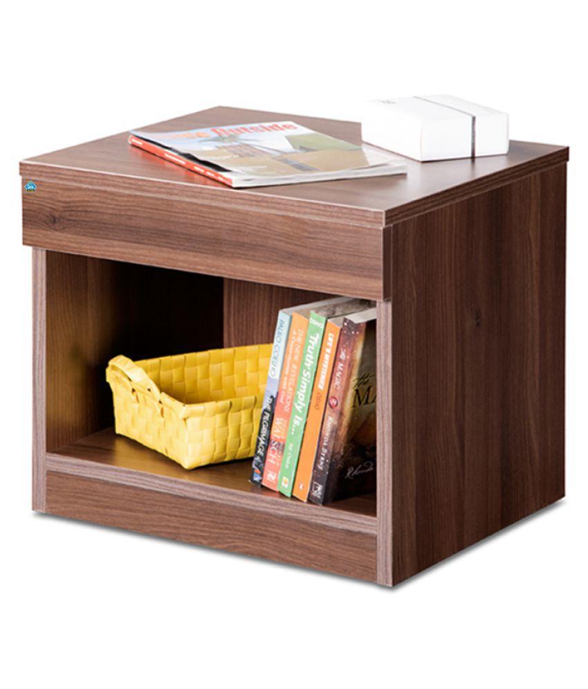 Delite Kom  Engineered Wood Bedside Table  (Finish Color - Acacia Dark)