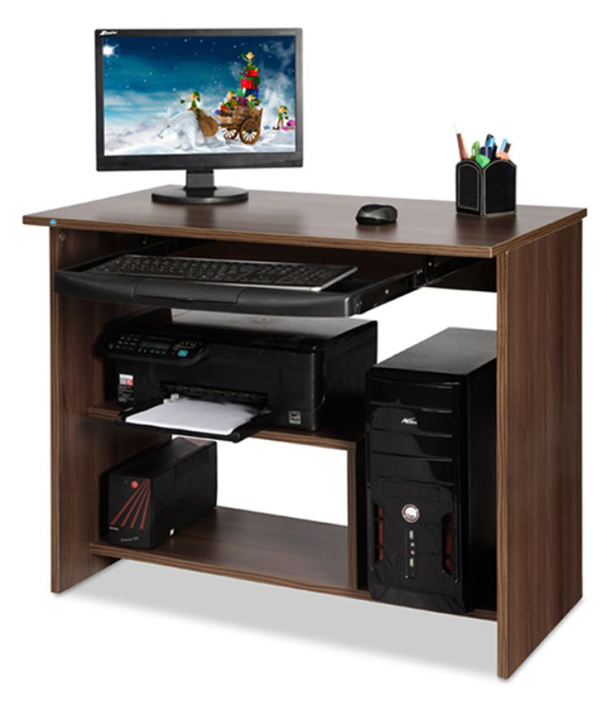 delite kom lucky engineered wood computer desk color acacia dark rh snapdeal com