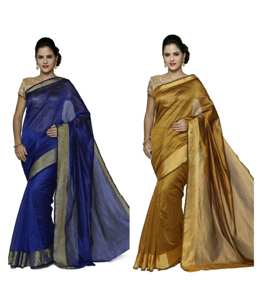 sarvagny clothing Multicoloured Art Silk Saree Combos