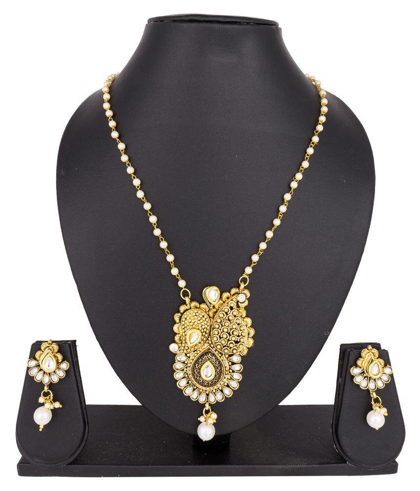 Pankh Antique Bridal Kundan Necklace Set