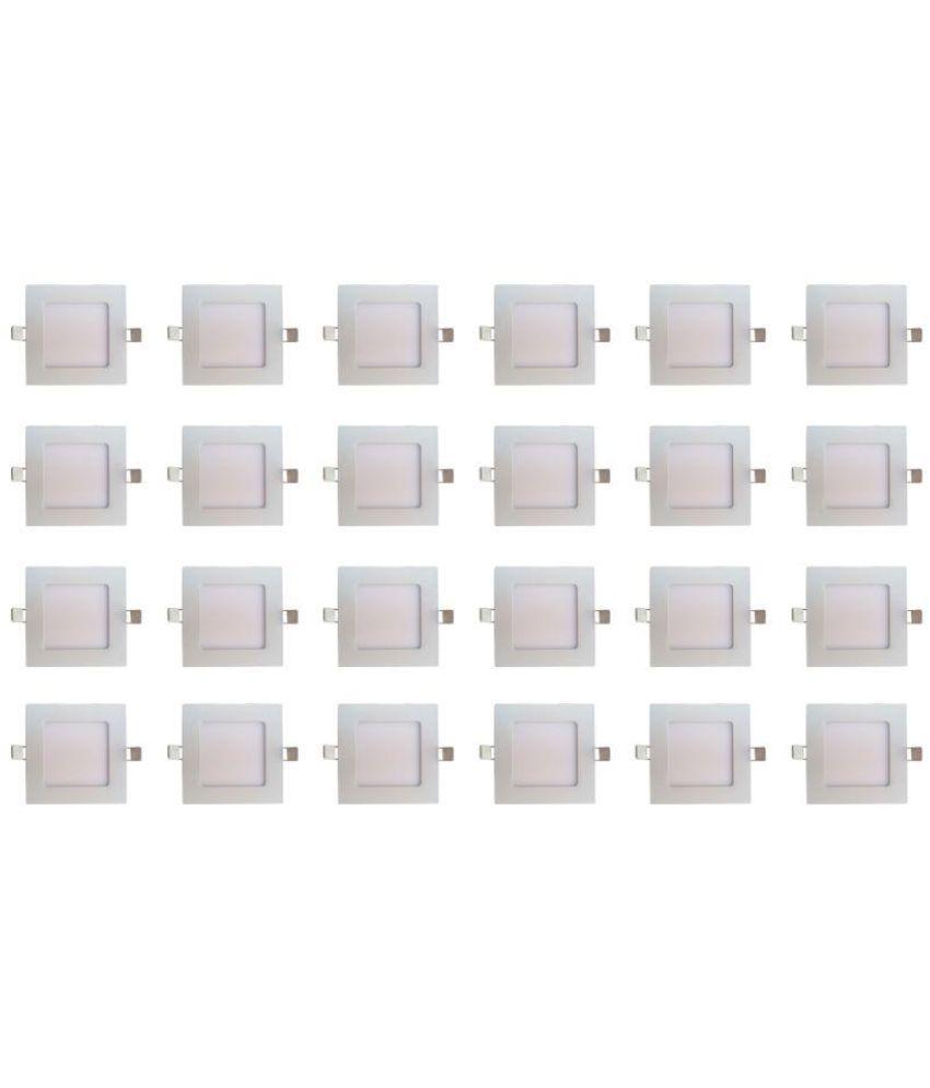 Bene 6W Square Ceiling Light 12 cms. - Pack of 24