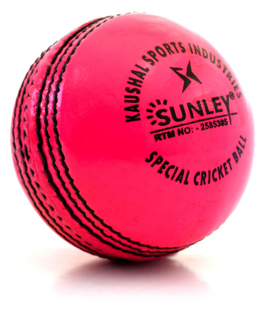 Sunley Pink Leather Cricket Ball Buy line at Best Price on Snapdeal