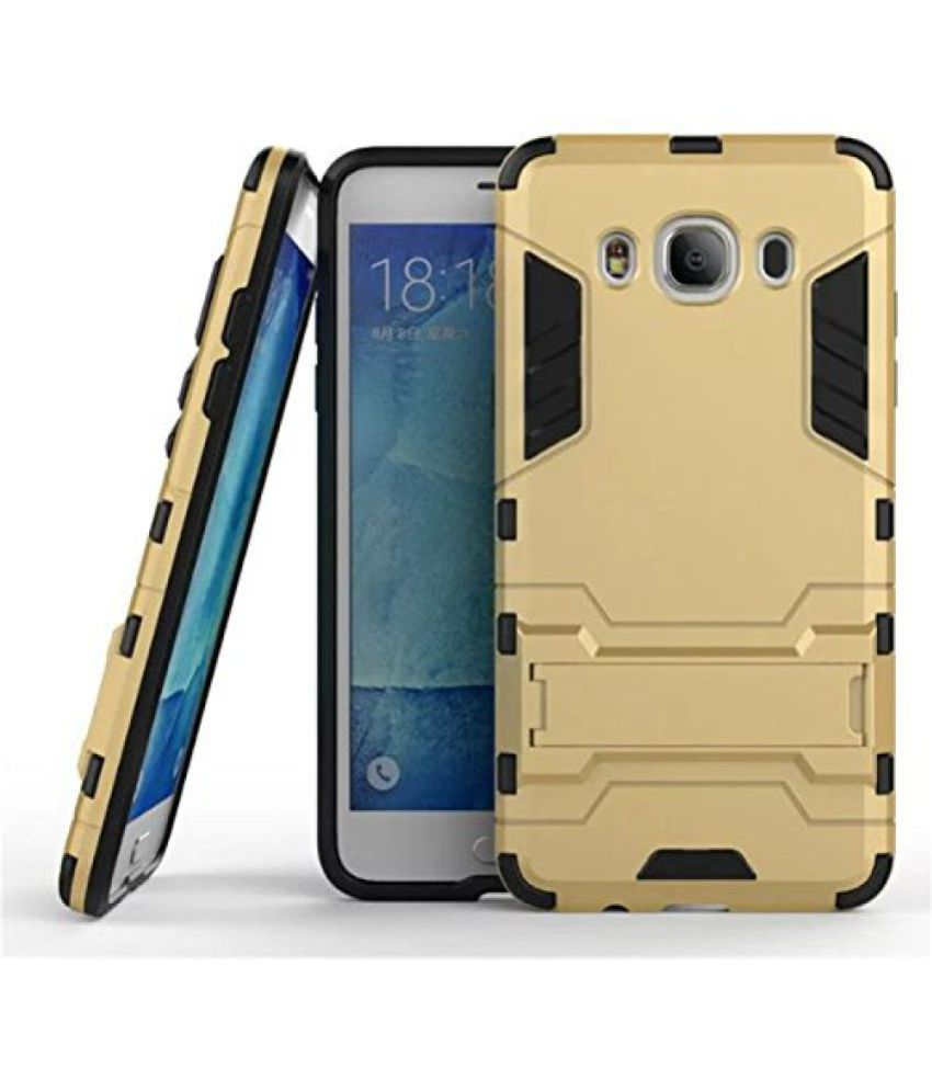 Samsung Galaxy J2 (2016) Cases with Stands OM - Golden