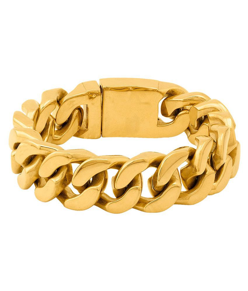 Bold Gold Plated Curb Link Bracelet