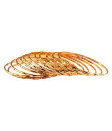 Aadita fashion Jewellery Well Crafted Gold Plated Bangles Set of 12 for Women