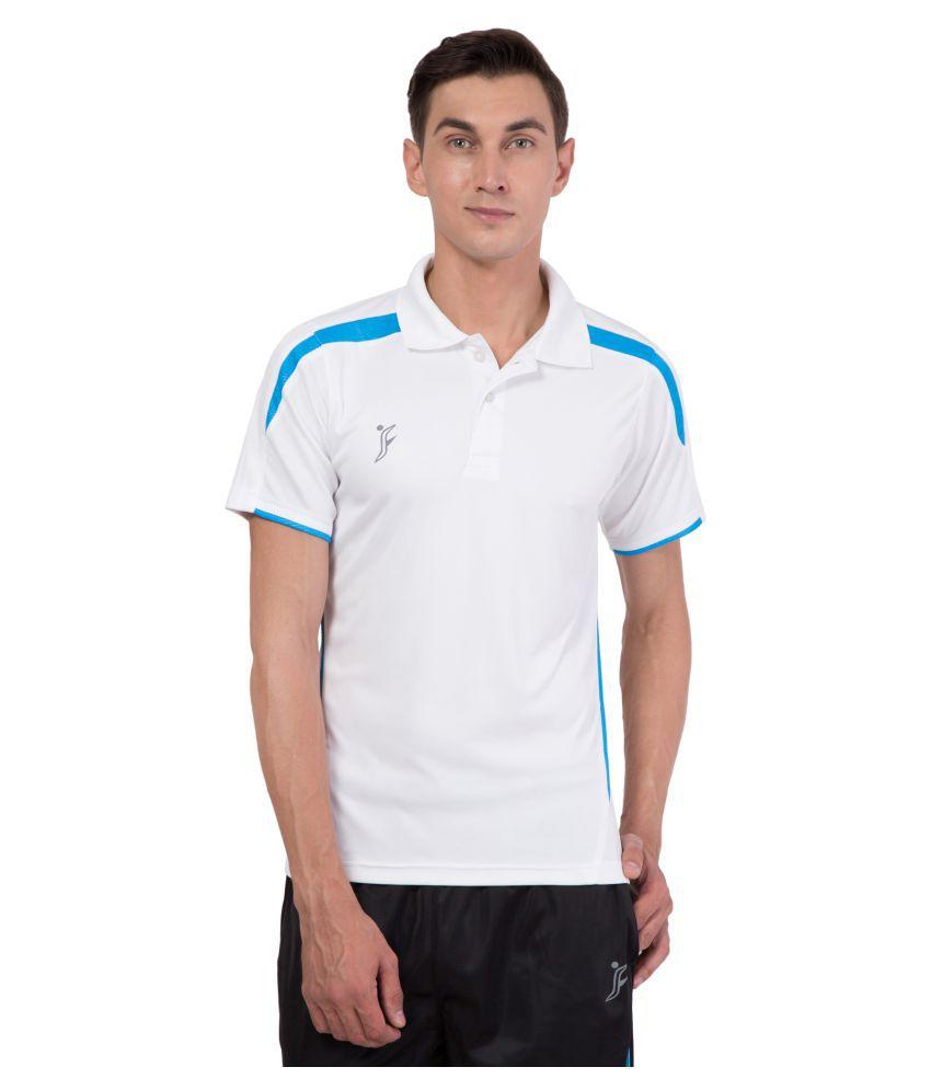 FINO White Regular Fit Polo T Shirt