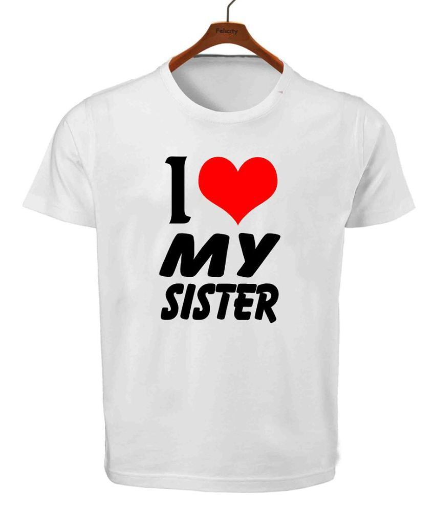 RITZEES White Dry Fit Polyester T-Shirt On I Love My