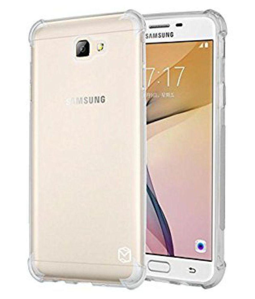 premium selection fb9a2 7b84a Samsung J7 Max Bumper Cases Red Qube - Transparent - Plain Back ...