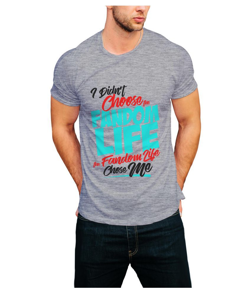 Print Opera Grey Round T-Shirt