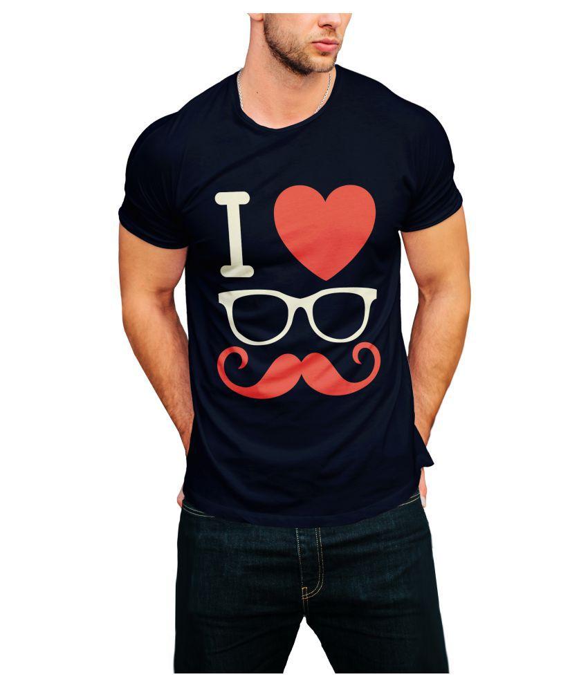 Print Opera Navy Round T-Shirt