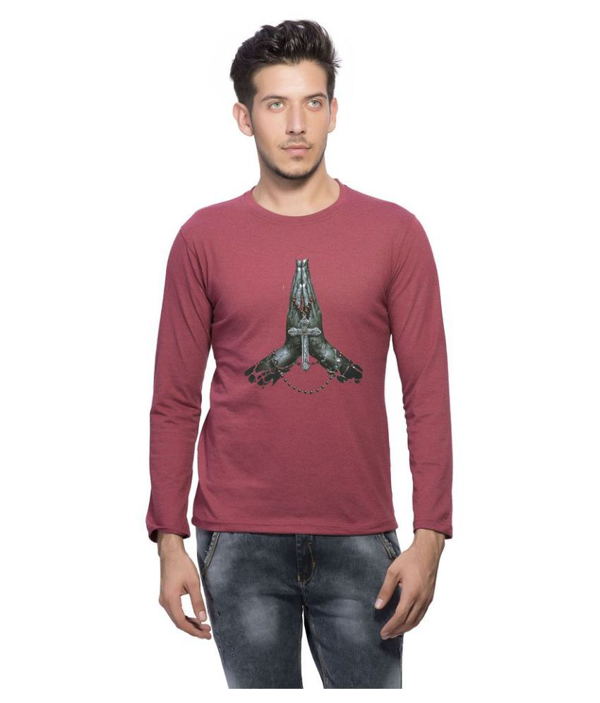 clifton Maroon Round T-Shirt