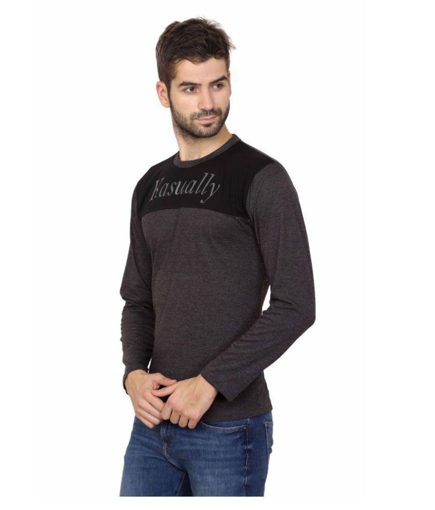 Kasually Grey Round T-Shirt
