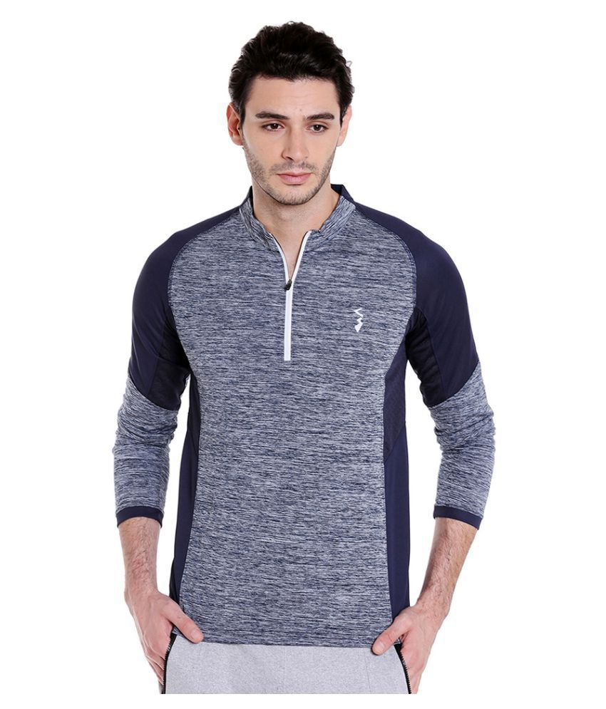 Campus Sutra Blue Polyester Jersey Single Pack