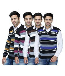Christy's Collection Multi V Neck Sweater Pack of 4