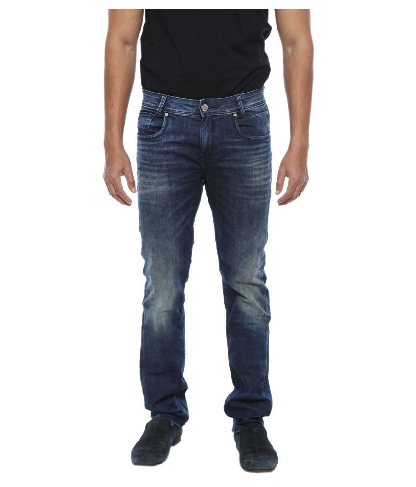 Mufti Blue Straight Jeans