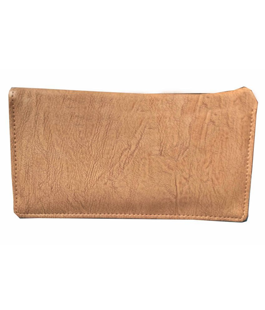 ALIVE Tan Faux Leather Box Clutch