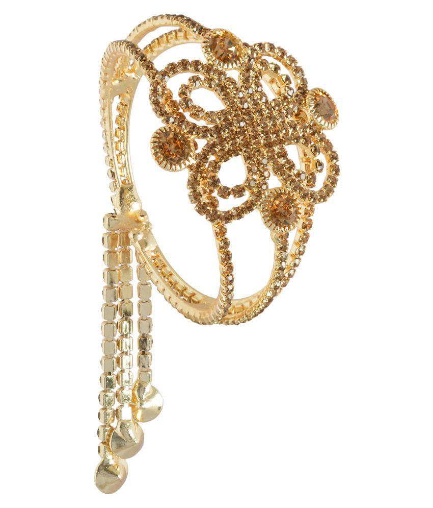 Trinetra Gold Alloy Bracelet Kada -KDFJ0098