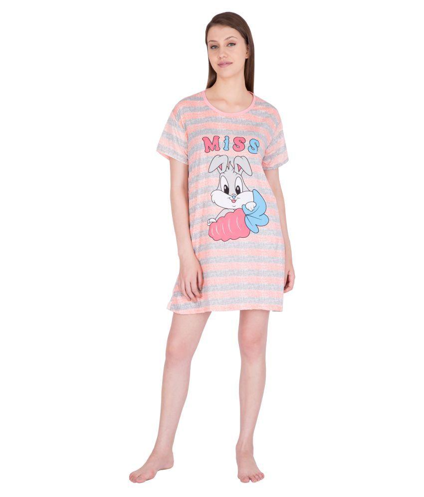 Fflirtygo Cotton Night T-Shirt
