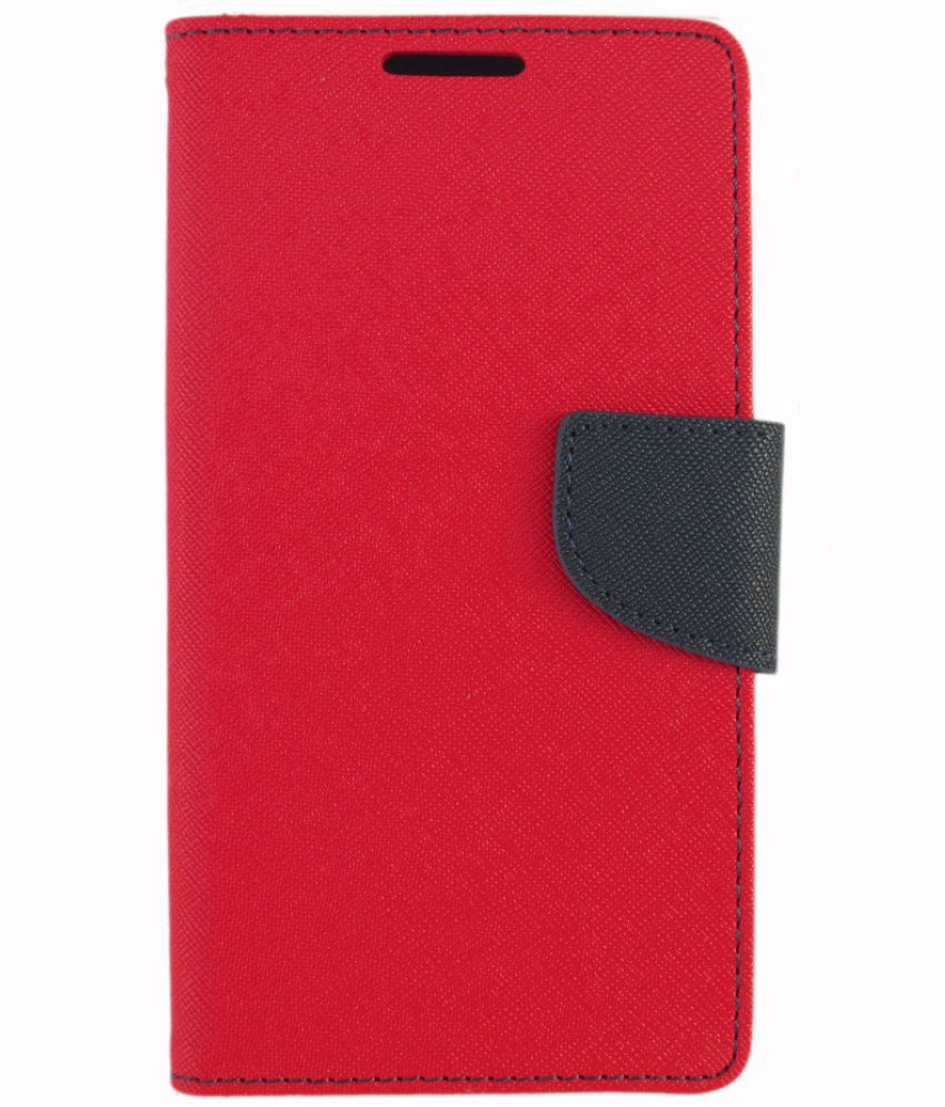 new concept 09be9 16948 MICROMAX SELFIE 2 Q4311 Flip Cover by Zocardo - Red