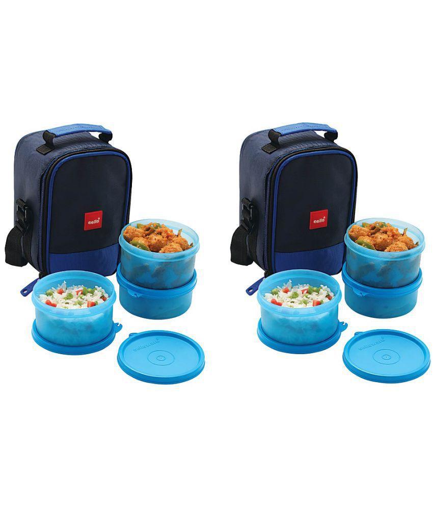 Cello Polypropylene (PP) Lunch Box (Buy 1 Get 1 Free)