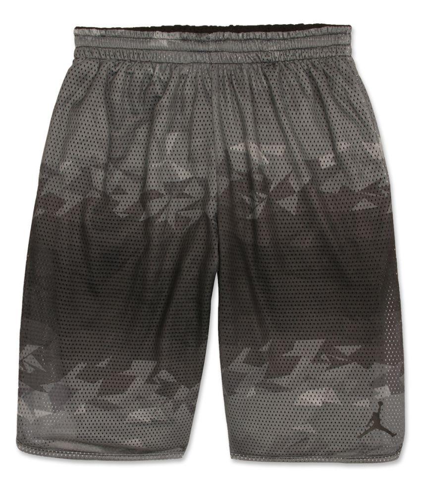 Jordan Boys Black Printed Shorts