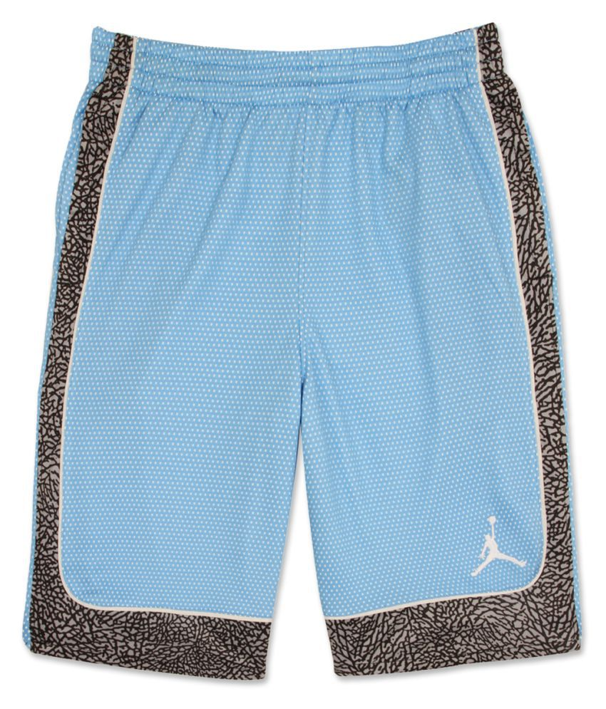 Jordan Boys Blue Printed Shorts