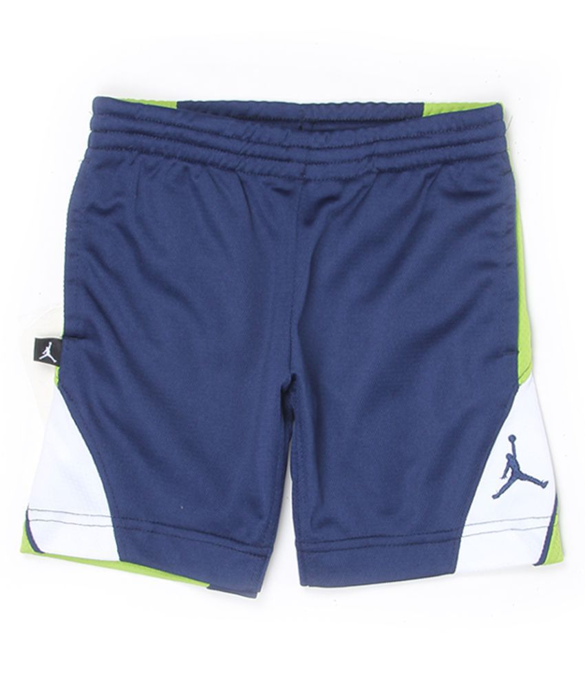 Jordan Boys Blue Solid Shorts